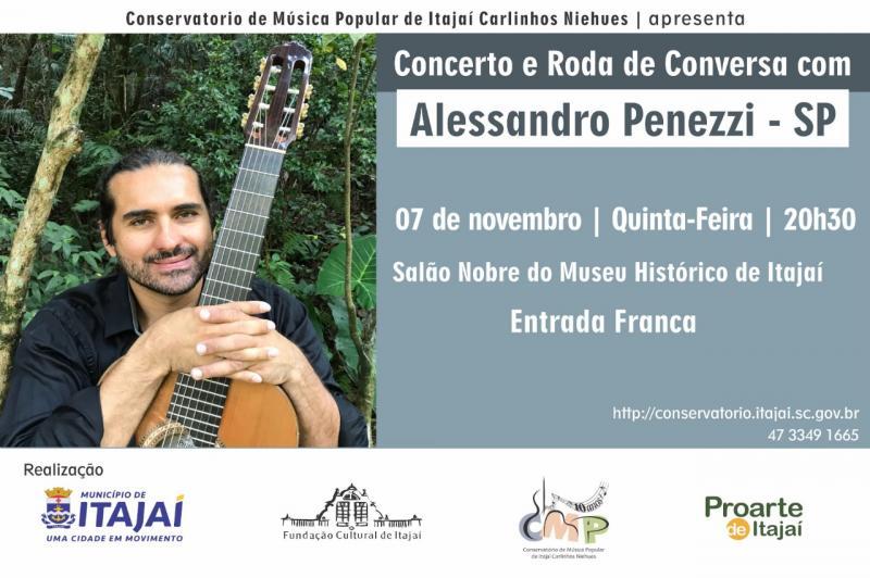Violonista fará concerto de violão e roda de conversa nesta quinta-feira (07)