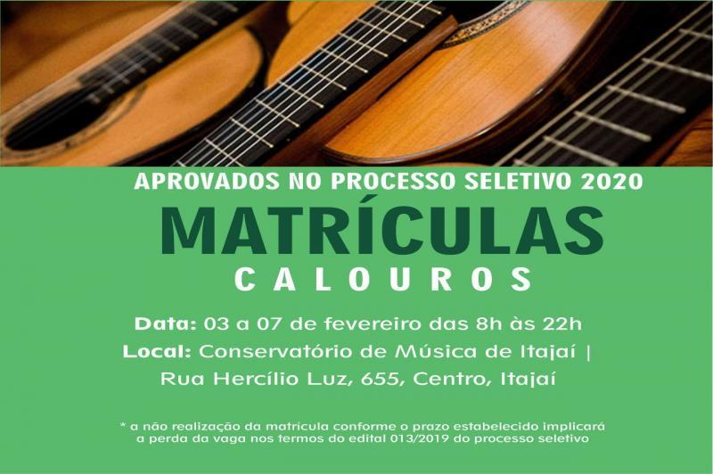 Matrículas para o Conservatório de Música abrem nesta segunda-feira (03)