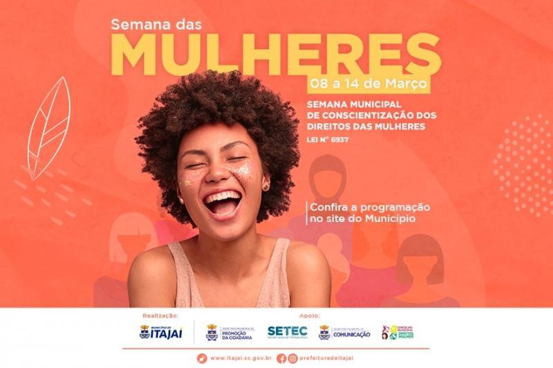 Itajaí terá Semana Municipal de Conscientização dos Direitos das Mulheres