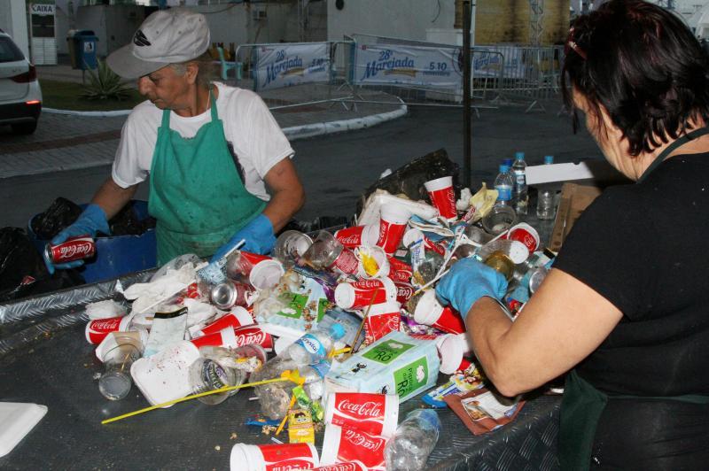 Marejada tem triagem de material recicl�vel durante a festa