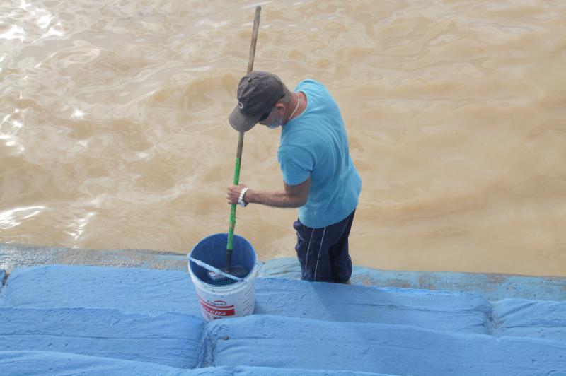 Parque N�utico Od�lio Garcia est� recebendo limpeza