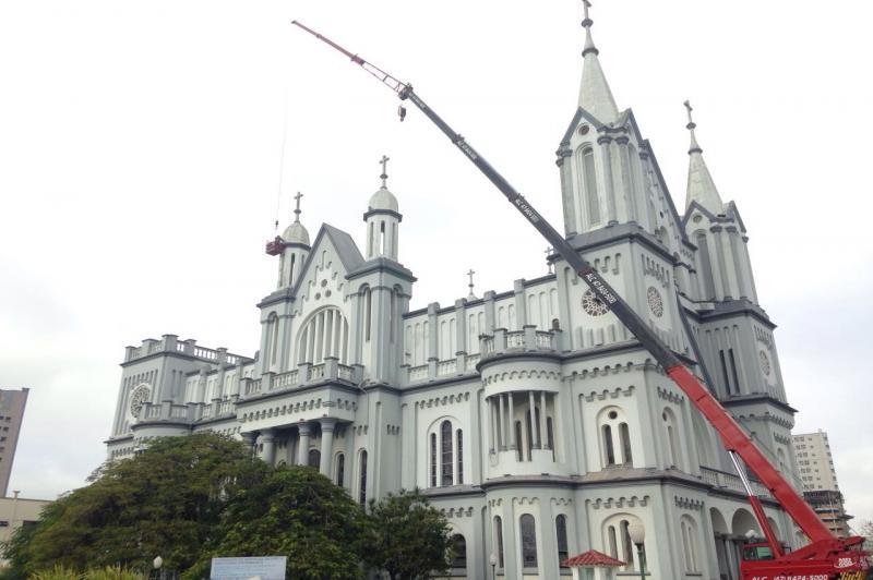 Nova ilumina��o da Igreja Matriz ser� testada nesta quarta-feira