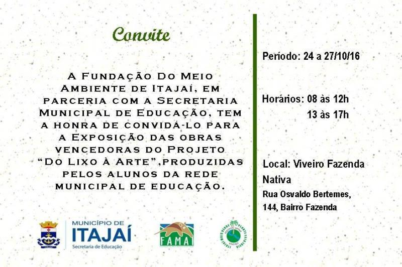 Exposi��o �Do Lixo � Arte� inicia na segunda-feira