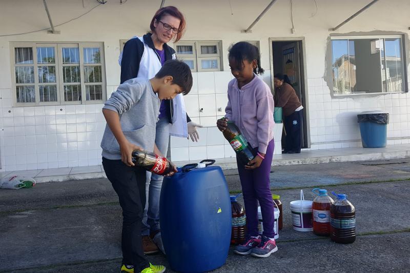 CEDIN faz campanha para coleta de óleo vegetal usado