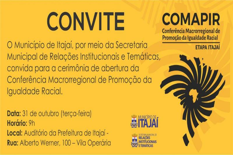 Conferência de Promoção da Igualdade Racial acontece em Itajaí