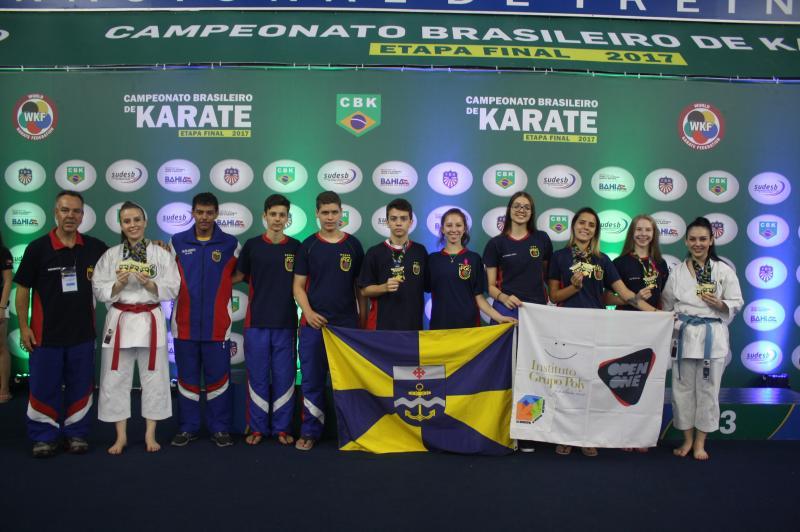 Atletas de Itajaí conquistam medalhas no Campeonato Brasileiro de Karatê 2017