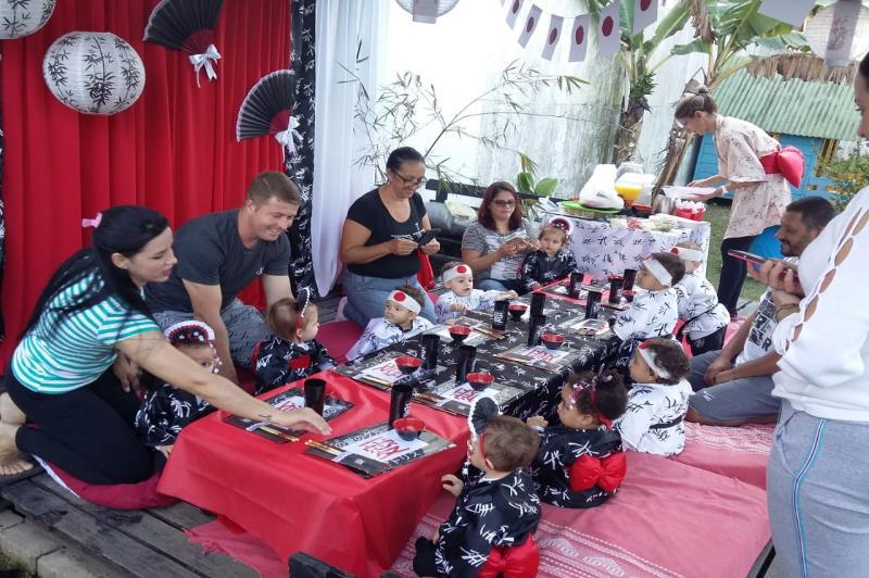 Criancas Aprendem Sobre A Cultura Japonesa Municipio De Itajai