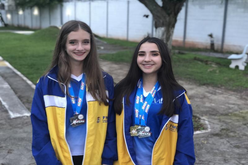 Patinadoras de Itajaí conquistam medalhas no Catarinense em Florianópolis