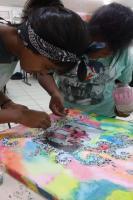 Alunos preservam história do bairro Canhanduba com produção de 22 telas