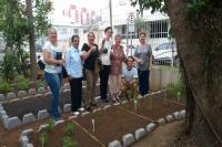 Horta fitoterápica é construída no Centro de Práticas Integrativas e Complementares em Saúde