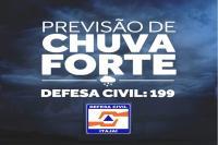 Defesa Civil alerta para risco de temporal em Itajaí nesta sexta-feira (18)