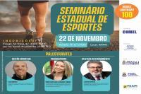 Seminário Estadual de Esportes será realizado nesta sexta-feira (22) em Itajaí