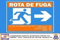 Defesa Civil de Itajaí realiza exercício simulado com rota de fuga nesta quinta-feira (21)
