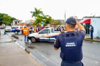 Alunos da Rede Municipal participam de ocorrência simulada da Defesa Civil