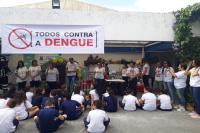 Município realiza mobilização contra dengue em escola no bairro São Judas
