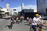 Escola de Itajaí realiza passeio ciclístico