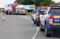 Defesa Civil realiza 10ª fiscalização de transporte de produtos perigosos