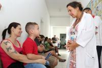 Mais de três mil pessoas participam do Dia D de Vacinação contra o sarampo