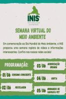 Instituto fará ações online de conscientização na Semana do Meio Ambiente