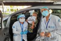 Domingo tem drive-thru para aplicação da segunda dose da vacina contra Covid-19