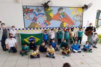 Sem desfile oficial, unidades escolares celebram 7 de setembro com ações internas