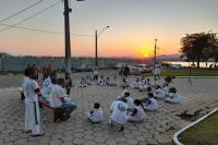 Alunos do Arte nos Bairros participam de encontro de capoeira neste sábado (11)