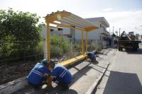 Dois novos pontos de ônibus foram instalados