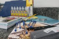 Unidades Escolares come�am a receber os kits de material escolar