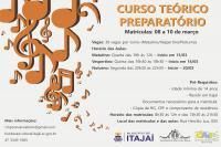 Abertas as matrículas para Curso Teórico Preparatório do Conservatório de Música