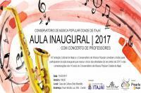 Concerto de professores marca aula inaugural do Conservatório de Música