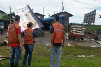 Itajaí decreta situação de emergência após passagem de ventos de até 110 km/h