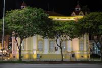 Adiada intervenção urbana na praça Arno Bauer e espetáculo na Itaipava
