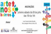Programa Arte nos Bairros: inscrições gratuitas no sábado (08)