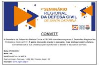 2º Seminário regional da Defesa Civil de Santa Catarina será realizado em Itajaí