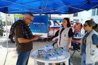 Defesa Civil realiza ação educativa na Hercílio Luz