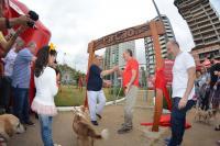 Famílias e animais de estimação curtem a abertura do Parcão em Itajaí
