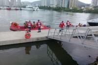 Agentes da Defesa Civil de Itajaí participam de simulado de salvamento aquático