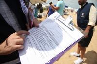 Município realiza fiscalização na Praia Brava