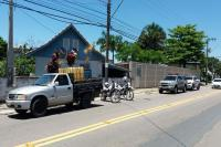 Defesa Civil de Itajaí auxilia em ocorrência no transporte de produtos perigosos em município vizinho