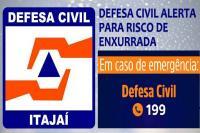 Defesa Civil de Itajaí está em estado de atenção devido às enxurradas