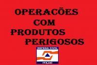 Defesa Civil acompanha ocorrência de vazamento de gás em Itajaí