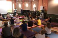 Quarta-feira é dia de aula de ioga no Museu Histórico