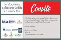 Itajaí sediará Feira Catarinense de Economia Solidária e Criativa