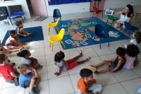 Crianças participam do projeto Volvo Ocean Race: O mundo se encontra aqui