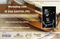 Conservatório de Música realiza workshop de pandeiro com o músico Iê Santos