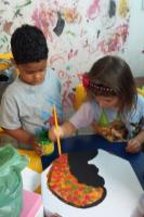 Crianças do jardim II participam de projeto sobre cultura afro-brasileira