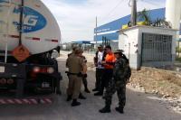 Defesa Civil realiza fiscalização de transporte de produtos perigosos